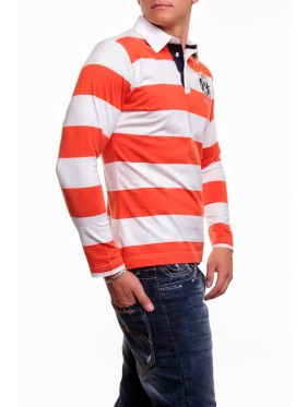 Polo shirt M913 orange 100% Cotton