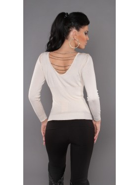 Sexy sweater with chains S-7308PC
