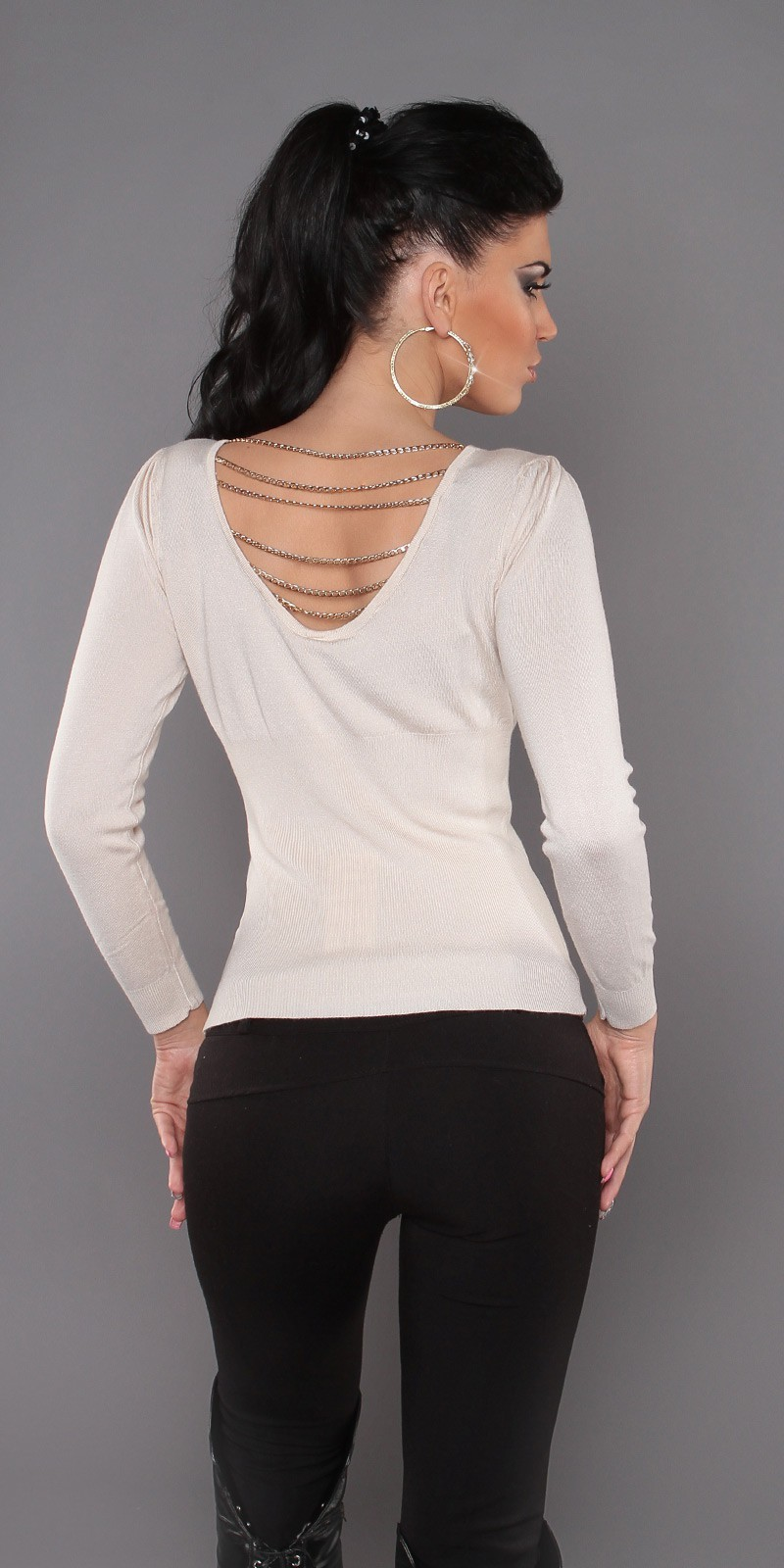 Sexy sweater with chains S-7308PC - Feel The Fashion. Γυναικεία και Ανδρική  μόδα 265688395a1
